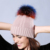 Marca de moda Otoño Invierno Mezcla de Lana de Punto Mujeres Skullies Gorro de piel de Mapache Pompones de Conejo Color Sólido Calidez de Esquí Gorros 18T34