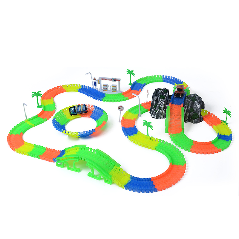 Railway-magical-slot-stunt-race-truck-flexible-toys-for-boys-childrens-railroad-tracks-light-with-cars-racing-miracle-track-1