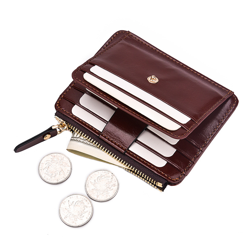 2019 Unisex Card Wallet Business Card Holder Pu Leather Coin Pocket Women Card Organizer Men Purse Money Bag Wholesale
