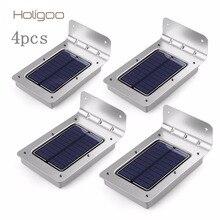 Holigoo 4 шт. Солнечный свет 16 напольный Беспроводной солнечные Сенсор солнечный светильник/Бра/безопасности огни/сад свет