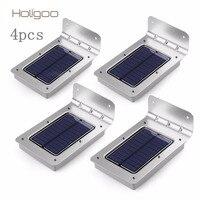 4pcs LED Solar Light 16 LED Outdoor Wireless Solar Powered PIR Motion Sensor Solar Lamp Wall