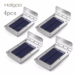 Holigoo 4pcs led solar light 16 led outdoor wireless solar powered sensor solar lamp wall lamp.jpg 250x250