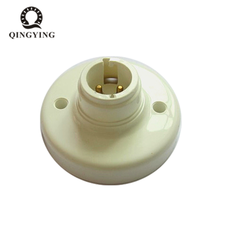 2pieces B22 Lamp Holder 78mm Diameter LED Bulb Socket Bases White Fireproof Lamp Holder Converters