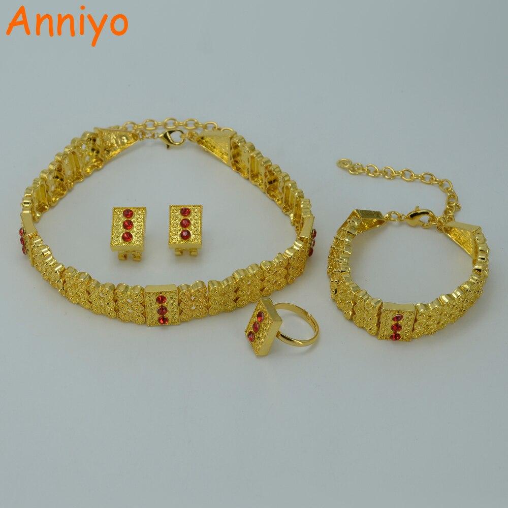 Gold Necklace Set For Bride