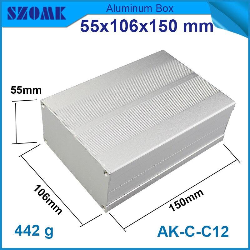 ᗑ4pcs/lot silver szomk diy electrical aluminum enclosure metal ...