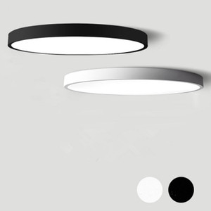 Black White Modern Led Chandelier Acrylic Round Chandeliers Ceiling For Living Room Bed Room Kitchen Ultra thin Lighting Fixture(China)