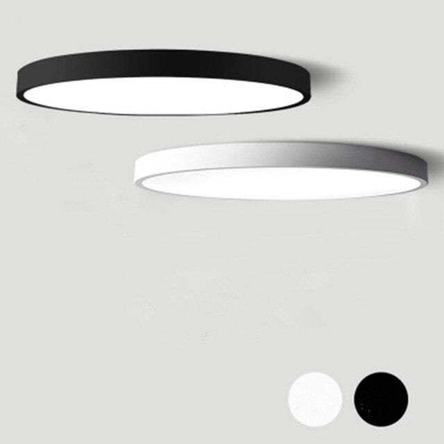 Schwarz Weiß Moderne Led Kronleuchter Acryl Runde Kronleuchter Decke Für Wohnzimmer Bett Zimmer Küche Ultra dünne Leuchte