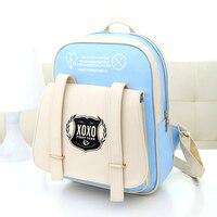 Women Leather EXO Backpack Students Preppy Style School Bags Fashion Backpacks For Teenage GirlsTravel Bagpack Bolsoas