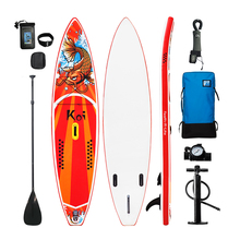 "FunWater 11'6 ""* 33"" * 6 ""Oppblåsbare Paddle Board Sup W 'Padle, Bag, Leash, Pumpe, Telefonpose"