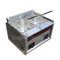 Lpg Gas deep fryer / gas deep fryer for stainless steel material good quality with 1 safety Valve for LPG