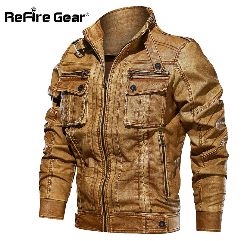 Enjeolon brand pu leather jacket men high quality men jacket stand collar cool zipper clothes P387