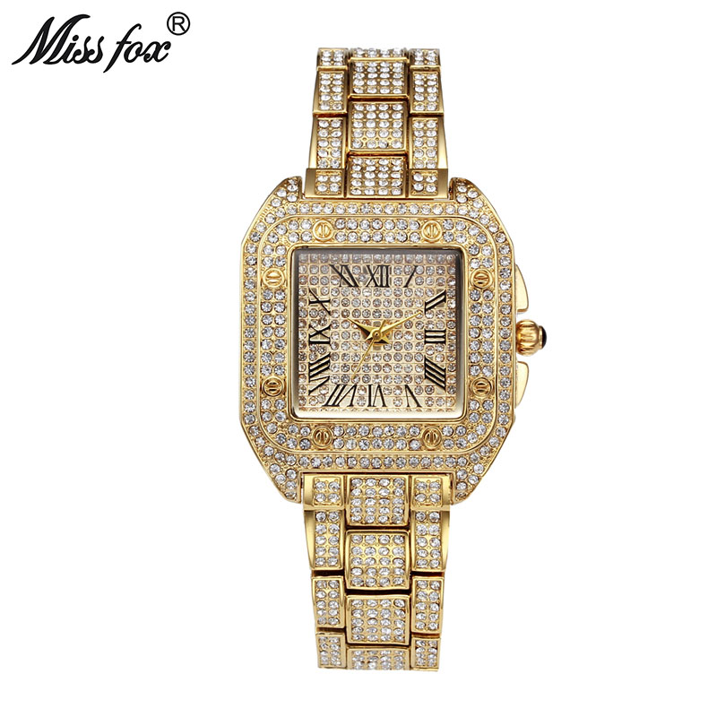 MISSFOX Ladies Wrist Watches Women Fashion Watch 2020 Brand Casual Square Carter Women Watch Waterproof Tank Female Quartz Watch