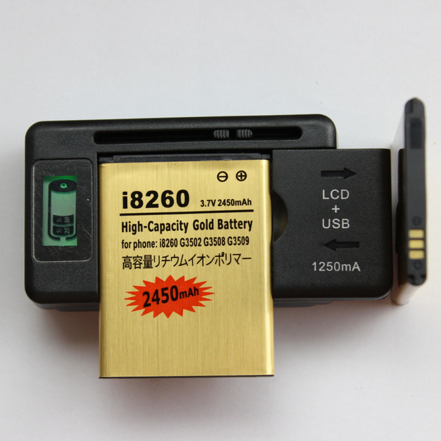 2 x B150AE Battery 1800mAh + LCD USB AC Universal Charger For Samsung Galaxy i8260 Trend G3502 G3508 G3509 M-g3502U B150AC