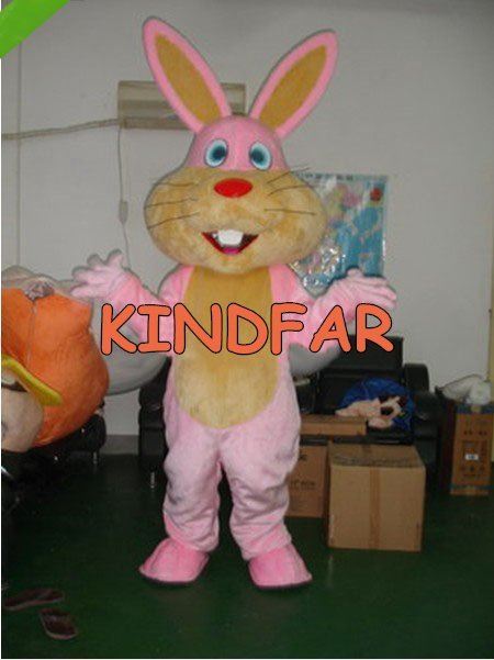 New Easter Bunny Rabbit Mascot Costume Adult Fancy Dress Cartoon Party Carnival Suit Free Shipping