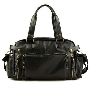 Винтажная дорожная сумка, мужская сумка для багажа, сумка для путешествий, сумка на плечо, мужская кожаная сумка на плечо, bolsa viagem