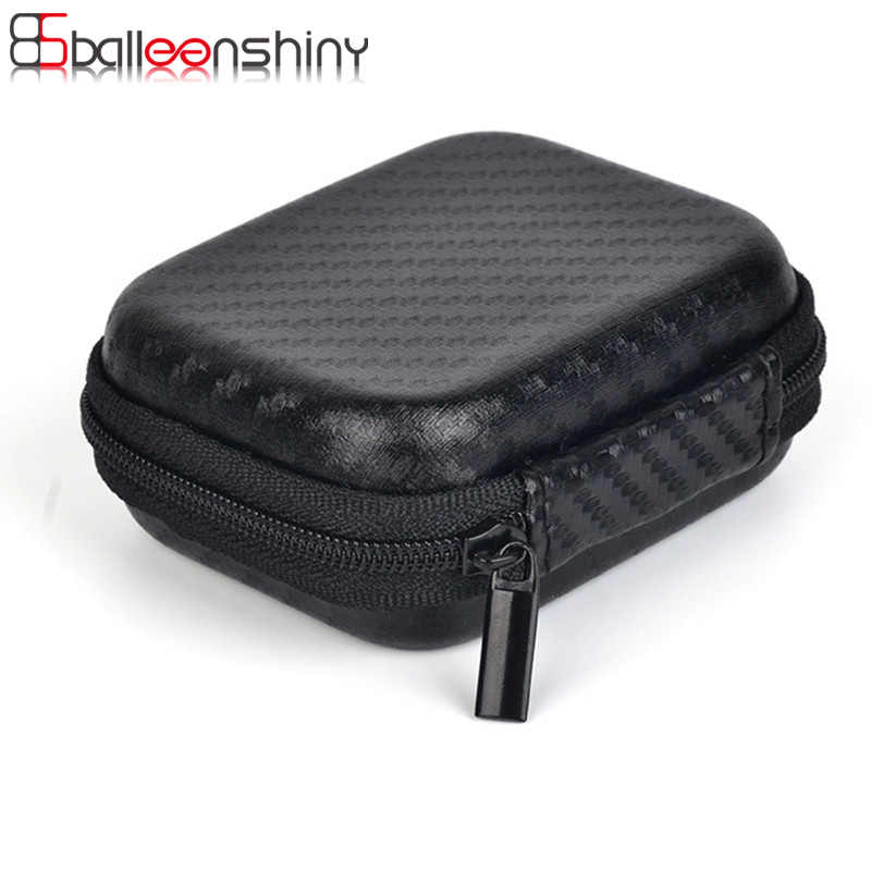 BalleenShiny Mini Zipper Earphone Storage bag Protective Headphone case Pouch digital gadget devices travel USB Cable Organizer