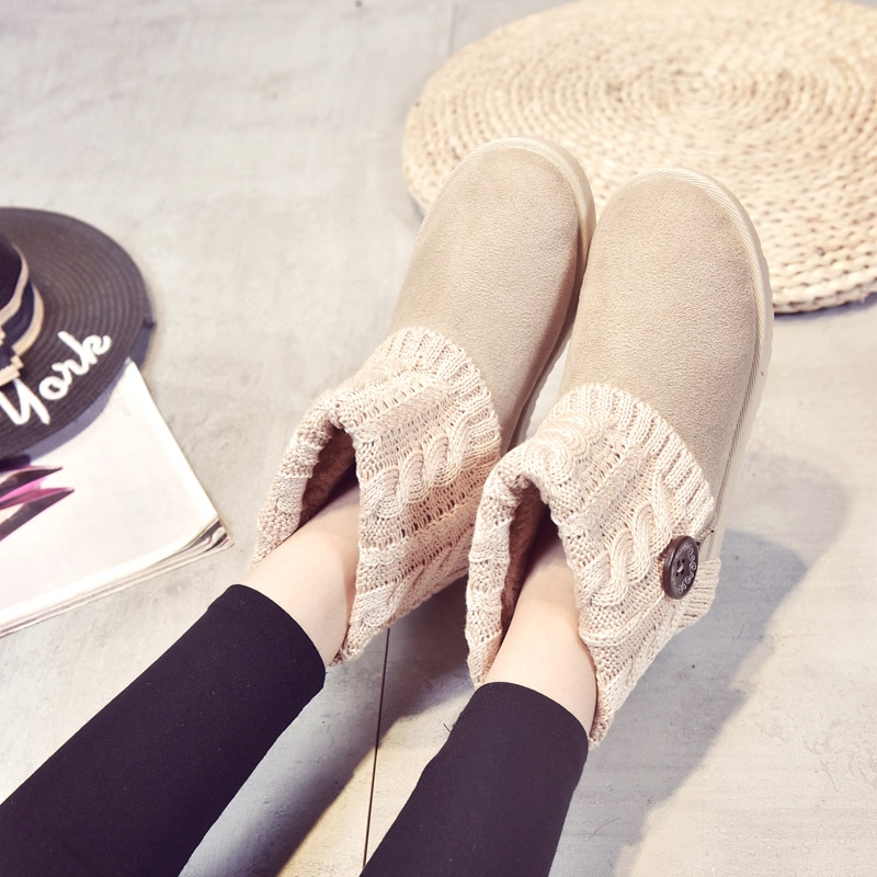 FEVRAL 2018 New Woman Ankle Boots Fashion Slip-On Sexy Comfortable Flat Woman Shoes Casual Winter Boots Keep Warm Size 35-40 xiu xian warm plush winter ankle boots for women slip on comfortable lady shoe 2017 new fashion casual young style handsome girl