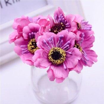 Mini bouquet de pavot artificiel 3.5cm | bouquet en soie cerisier, couronne de tatouage fait à la main, bricolage, scrapbook, décoration de mariage, fausse fleur 1
