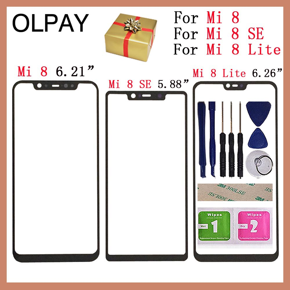 OLPAY For Xiaomi MI 8 MI8 SE Lite Youth Pro MI8 Mi8i Touch Screen Panel Front Outer Glass Lens Touch Screen NO LCD DigitizerOLPAY For Xiaomi MI 8 MI8 SE Lite Youth Pro MI8 Mi8i Touch Screen Panel Front Outer Glass Lens Touch Screen NO LCD Digitizer