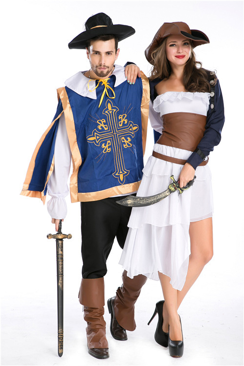 couples party cosplay sexy pirate halloween costumes for women medieval halloween costumes for men carnival costumes cc0385 in anime costumes from novelty