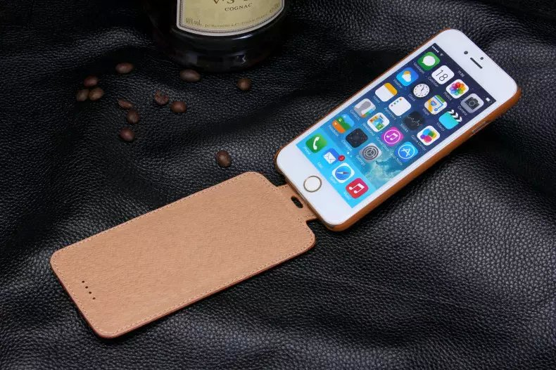 imágenes para Vertical flip case original para iphone 6 plus/6 s plus case verdadero de la vaca leather case para iphone 6/6 s 6 plus/6 s plus genuine cuero