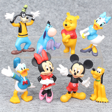 8pcs/lot 4-7cm Mickey Action Figures Toy PVC Mickey Minnie Goofy Donald Duck Models Girls Dolls Toys for Children