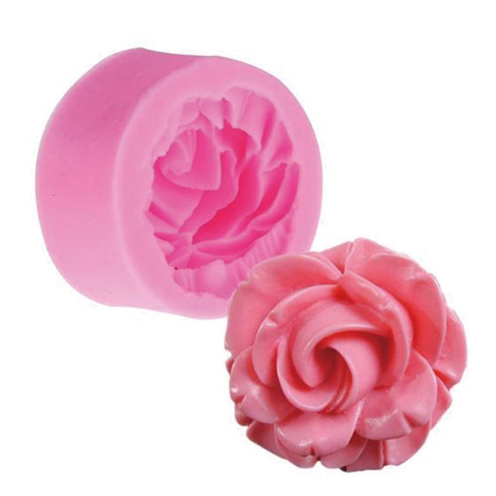 1 Pcs 3D Rose Flower Shape Mold Form Chocolate Cake Mold HandmadeCake Fondant Decoration Soap Making Silicone Mold