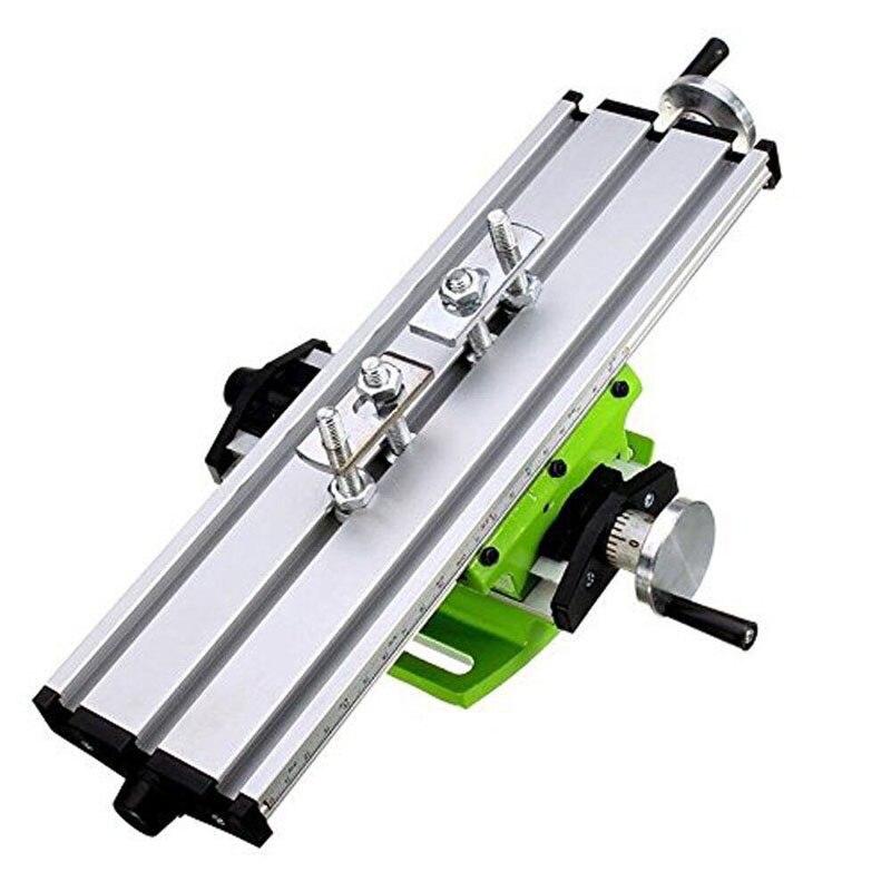 Fräsen Maschine Verbindung Arbeitstisch Kreuz Rutsche Bench Bohrmaschine Schraubstock Leuchte