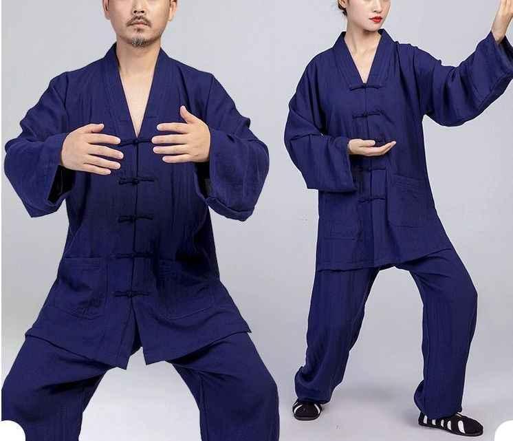 Унисекс Лето и весна Высококачественный льняной taoism Тай чи костюм наряд униформа для боевых единоборств кунг-фу даосская одежда