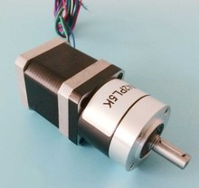 2pcs/lot High quality planetary NEMA 17 stepper motor 6n. M (833oz-in) gear ratio 30: 1 40: 1 50: 1 with 34 mm motor length