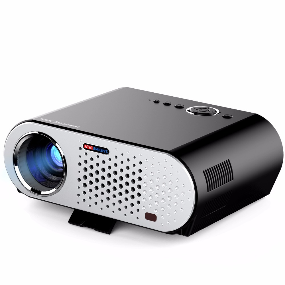 Wireless Bluetooth Android Projector 3200 Lumen Brightness 3D Projector with DLP Technology LED Lens Projector GP90