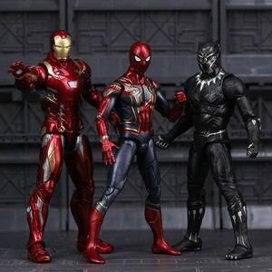 Marvel Avengers Endgame Iron Man Spiderman Spider Ironman Thanos Thor Hulk Captain America Action Figure Toys for Children Boys(China)