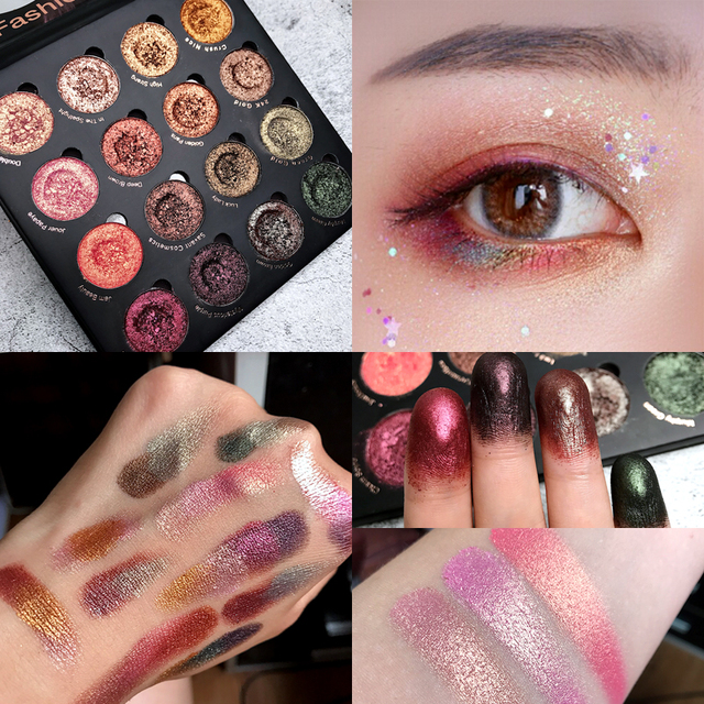 New Eyeshadow Palette 16 Colors Shimmer Matte Glitter Makeup Palette Nude Smoky Pigment Makeup Eyeshadow Palette Eye Palette