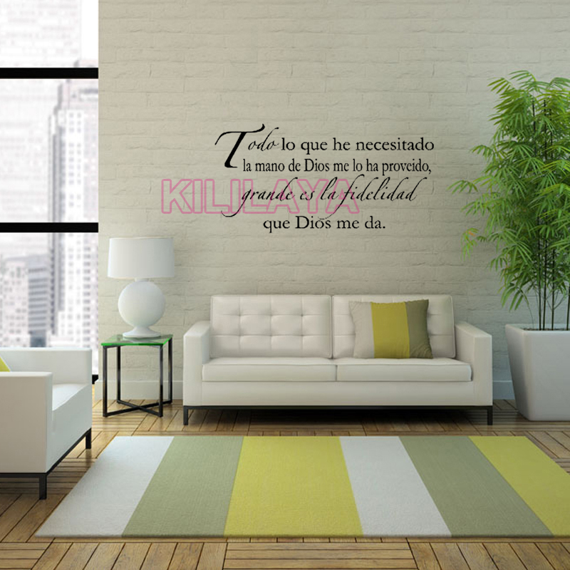 Vinyl Wall Stickers Spanish Quotes Espanol Decals Sticker Art Home Decor Wallpaper For Living Room House Decoration In From