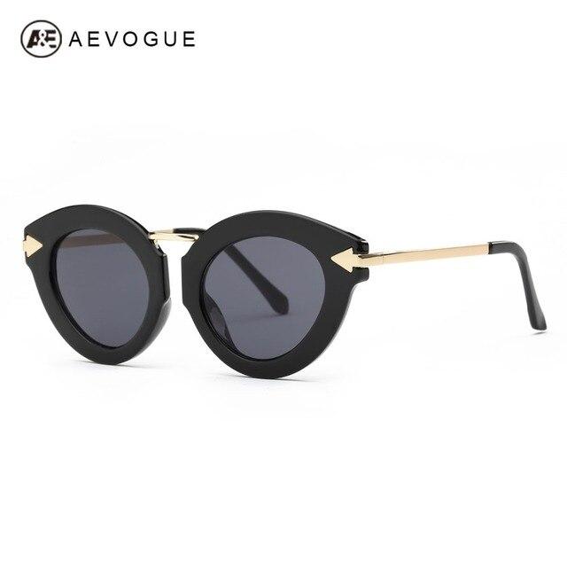 Aevogue original Gafas de sol mujer de lujo marca diseñador Ojo de Gato de  aleación templo 3c71b2b6881f