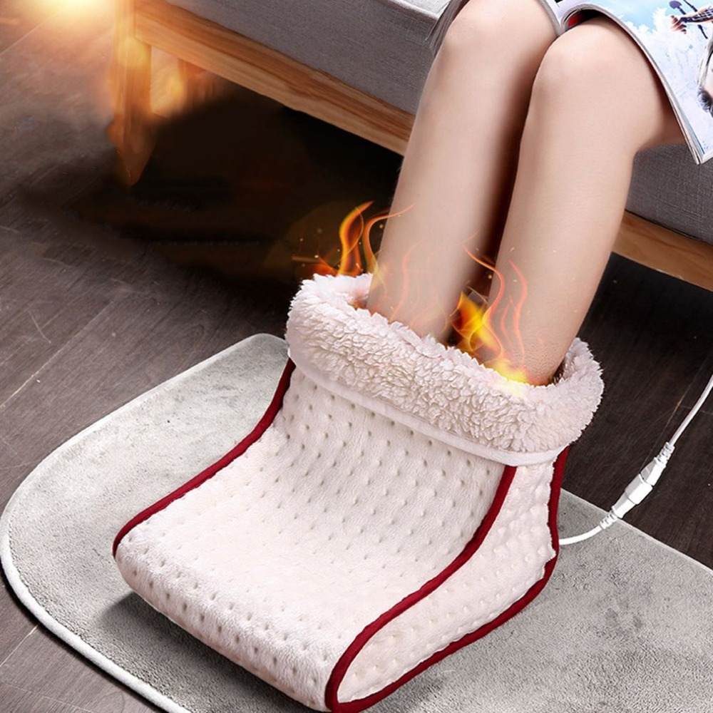 EU/US Plug Electric Warm Foot Warmer Washable Heat 5 Modes Heat Settings Warmer Cushion Thermal Foot Warmer Massage Cosy Heated