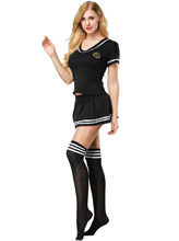 Sexy Cheerleader Costume - Women Sailor Suit Girls Cosplay Student Uniform Football With Stocking