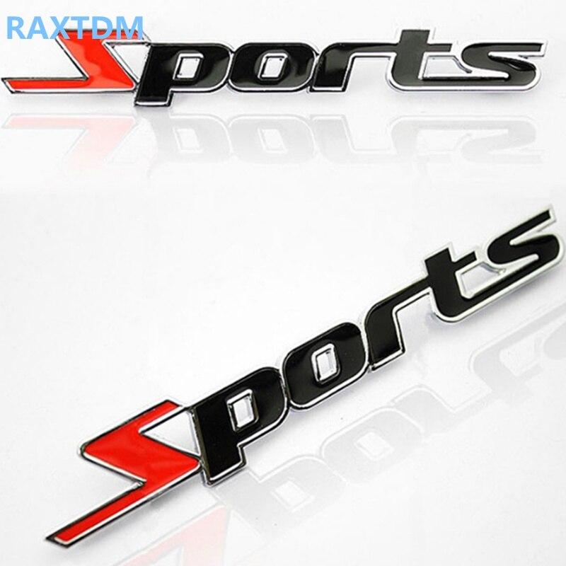 3D металла наклейки спортивный для KIA Rio K2 K3 K4 K5 KX3 KX5 Cerato, Soul, Forte, sportage R, Sorento Optima