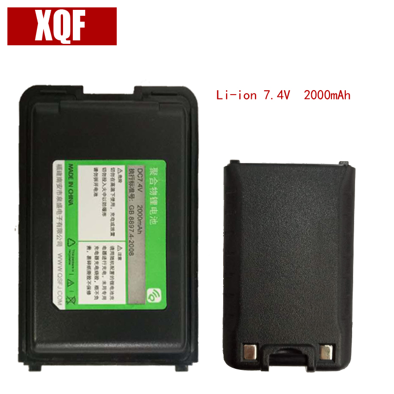 Original Battery DC 7.4V 2000mAh Li-ion For QuanSheng Walkie Talkie TG-UV2  Two Way Radio