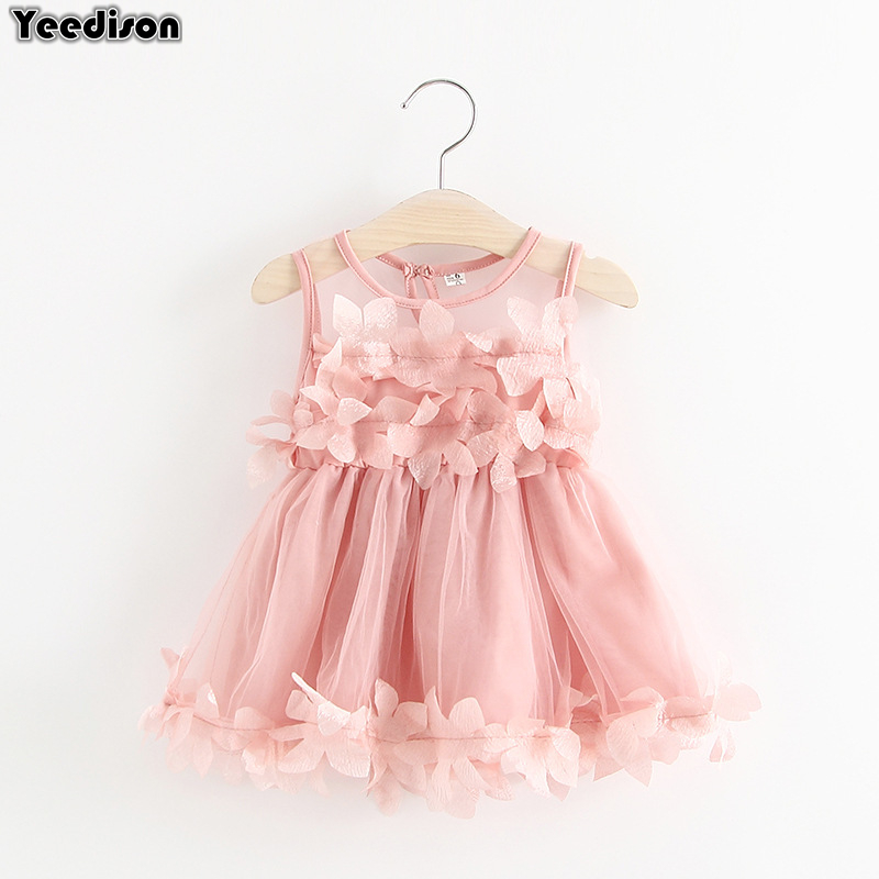 e216f2668 2018 verano vestidos de bebé niña recién nacido vestido de bautizo para niña  1 er cumpleaños trajes flor princesa fiesta Infante vestido 3 T