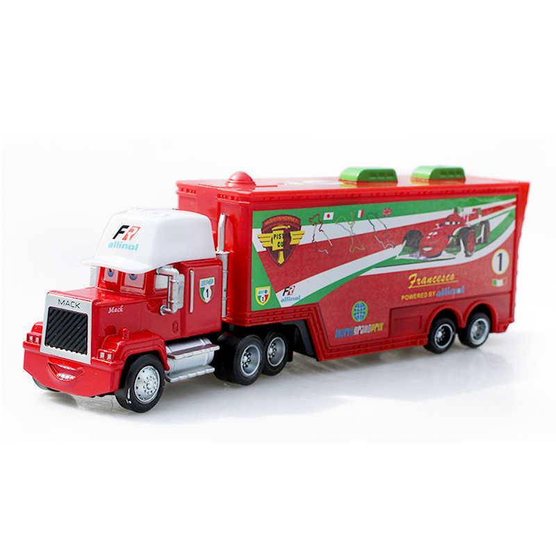 חדש דיסני פיקסאר מכוניות פרנצ 'סקו ברנולי מאק הדוד משאית מתכת Diecasts צעצוע כלי רכב ילדים רכב מתנה לייטנינג מקווין