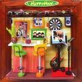 13630 hongda Europe Bar corner diy miniature doll house wooden dollhouse miniatures for decoration toys girls free shipping