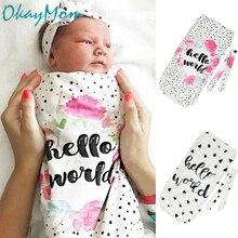 OkayMom/спальный мешок для новорожденных; одеяло для маленьких мальчиков и девочек; Милая Пижама для новорожденных; Bebe; одежда для сна с принтом; халат;