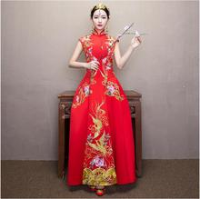 Shanghai Story Vintage Cheongsam Wedding Chinese Dress Suzhou Embroidery Long Qipao Women Sexy Traditional