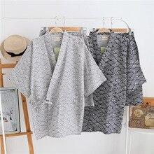 100% Cotton Gauze Short Sleeve Shorts Pajamas for Women Pijama Mujer Japanese Kimono Couple Pyjamas V Neck Home Men Pajama Set