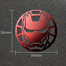 6pcs/lot The Avengers Metal Sticker Iron Man Stickers for Phone Laptop Fridge Decals DIY Toy