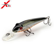 Купить с кэшбэком XTS Fishing Lure 7.8g 70mm Wobblers Artificial Minnow Bait 0.3-1m 7 Colors Crankbait Floating ABS Material Fishing Jerkbait 5211