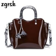 Women Patent Leather Tote Bag Ladies Luxury Handbags Varnish Bags Designer Famous Brands Small Bolsa