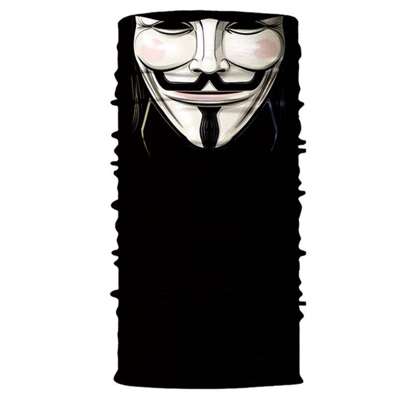 3D Череп Скелет бесшовная Бандана Балаклава головная повязка мотоциклетный головной убор Байкер волшебный платок труба Шея рыболовная вуаль маска для лица - Цвет: TA111