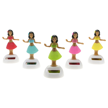 Citygirl Plastic Solar Powered Hawaii Hula Girl Swinging Dancing Toy 1